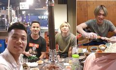 Văn Thanh đi ăn cùng Tuấn Anh ở Hàn Quốc