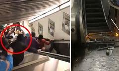 Nhiều CĐV Nga bị thương vì thang cuốn chạy nhanh bất thường