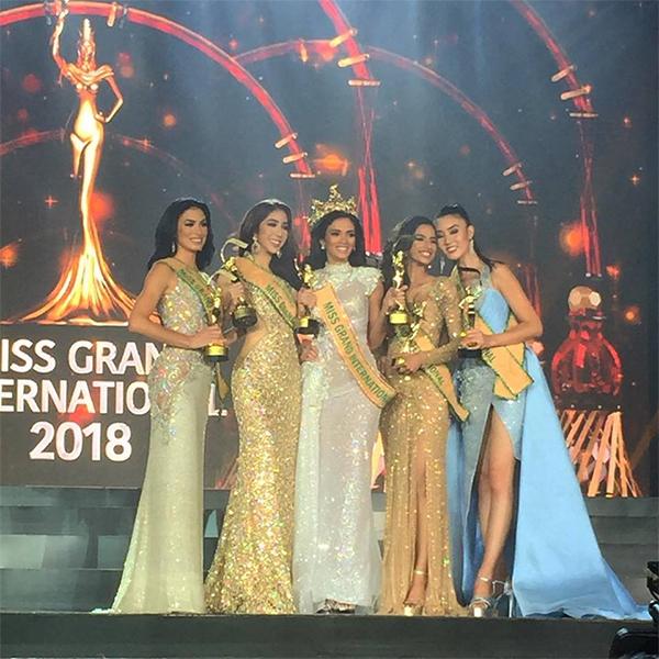 Hoa hậu và các Á hậu Miss Grand International 2018.