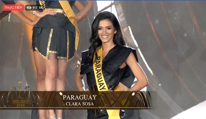 Người đẹp Paraguay khi được xướng tên vào top 20.