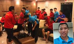 Anh Đức đón sinh nhật cùng tuyển Việt Nam ở Hàn Quốc