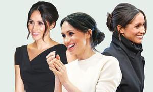Lý do Công nương Meghan thường xuyên chọn kiểu tóc búi thấp