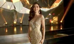 Phương Nga hùng biện bằng tiếng Anh trong chung kết Miss Grand