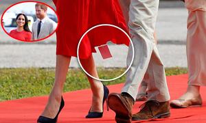 Meghan mặc váy chưa cắt mác giá khi đến Tonga