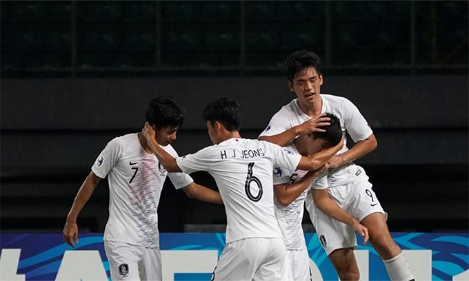 Bỏ lỡ rất nhiều cơ hội, U19 Hàn Quốc vẫn có chiến thắng cách biệt trước Việt Nam. Ảnh:AFC.