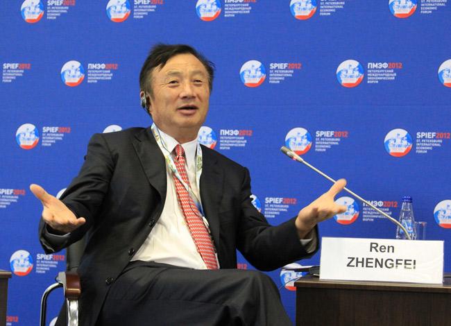 Ông Ren Zhengfei tại Diễn đàn kinh tế thế giới diễn ra tại Nga năm 2012. Ảnh:Flickr.