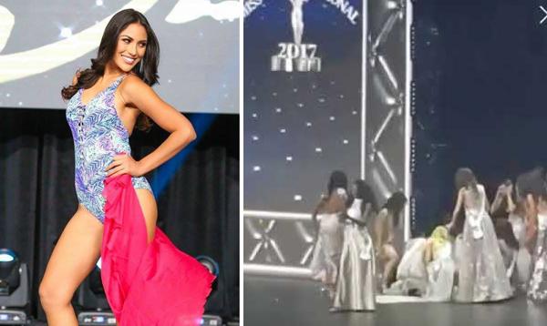 Tại chung kết Miss Supranational 2017 (Hoa hậu Siêu quốc gia 2017), trong lúc MC đang công bố Top thí sinh vào vòng trong, người đẹp Peru, Lesly Reyna, đột nhiên loạng choạng đứng không vững. Cô được các thí sinh đỡ dậy và khuyên đi vào bên trong nghỉ ngơi. Khi đi được vài bước, Lesly Reyna xỉu luôn. Thí sinh Philippines và nhiều người đẹp khác bỏ cả sân khấu để chạy tới trợ giúpbạn. Sau đó, các nhân viên đã tới bế Lesly Reyna vào phòng sơ cứu. Tại cuộc thi này, Lesly vào đến Top 25.