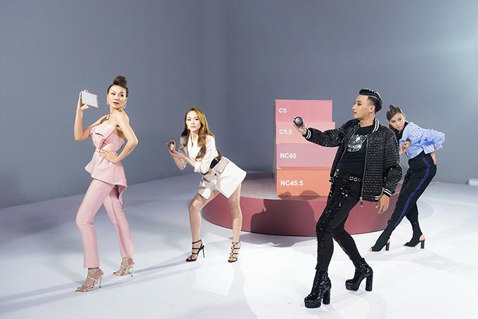 Phần thi khó khăn nhất ở tập 4 của The Face là màn quay clip quảng cáo cho nhãn hàng mỹ phẩm nổi tiếng. Các thí sinh phải thể hiện 5 phong cách của từng dòng sản phẩm bằng các động tác vũ đạo trên bục xoay.