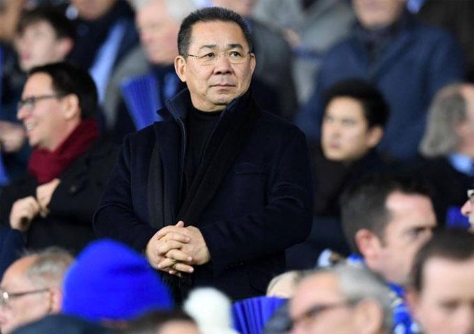 Vichai Srivaddhanaprabha thường xuyên có mặt trên khán đài ở những trận đấu của Leicester City.