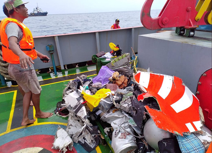Wreckage from the plane and miscellaneous items belonging to its passengers