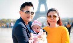Vợ chồng Thanh Thảo đưa con gái du lịch châu Âu