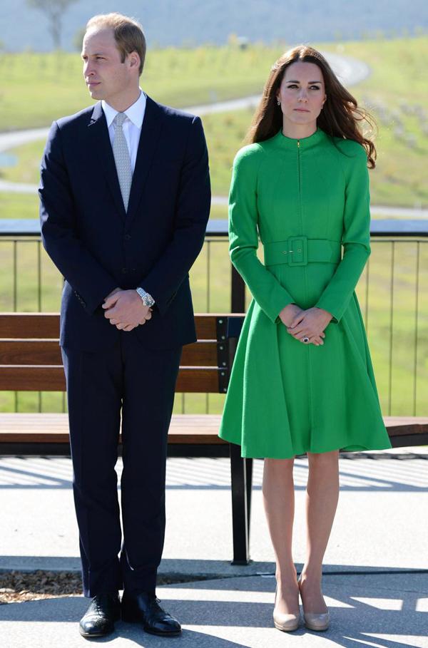 Kate cùng chồng - Hoàng tử William - tới thăm Australia và New Zealand năm 2014.