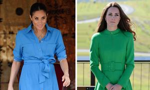 Meghan và Kate sửa váy để tránh phá quy tắc hoàng gia