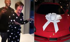Mẹ Kylie Jenner rơi nước mắt khi được con gái tặng siêu xe