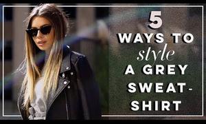 5 cách diện một chiếc áo nỉ màu ghi
