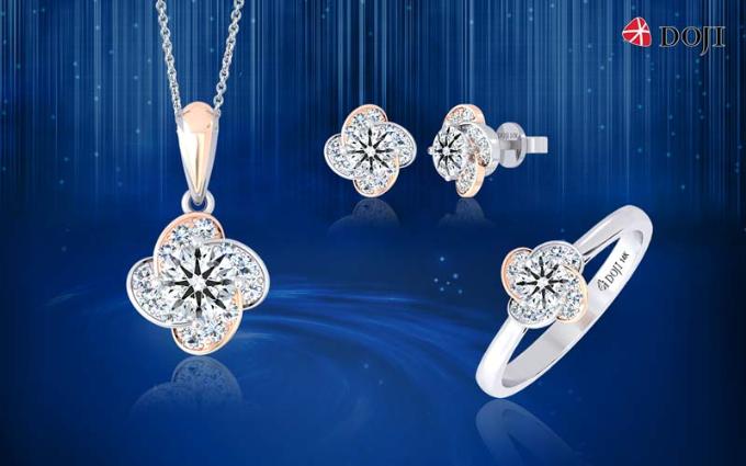 Ngoài ra, bạn có thể kết hợp những viên kim cương đã chọn với các thiết kế ổ (vỏ) riêng biệt hoặc lựa chọn các mẫu trang sức kim gắn sẵn với ưu đãi đến 20% tại VIJF.