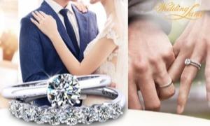 Nhẫn cưới và đính hôn kiểu dáng hiện đại của DOJI