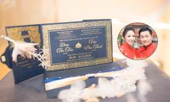 Thiệp cưới của Hoa hậu Đại dương Đặng Thu Thảo được làm trong 3 tháng