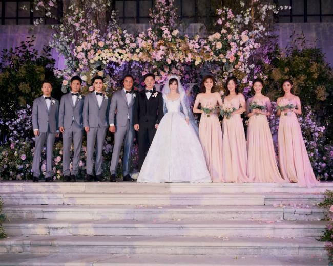 Đường Yên mặc váy dài quét đất trong đám cưới ở Vienna  - 7