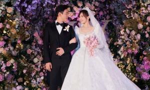 Hình ảnh hiếm hoi trong 'đám cưới cổ tích' của Đường Yên, La Tấn