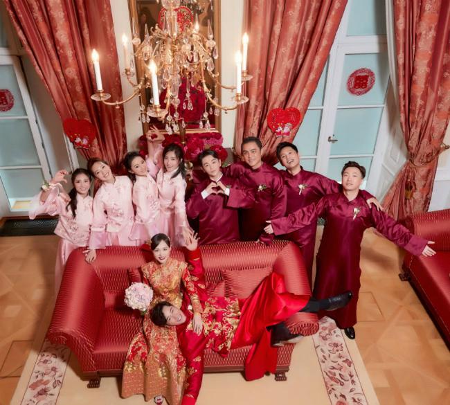 Đường Yên mặc váy dài quét đất trong đám cưới ở Vienna - 8