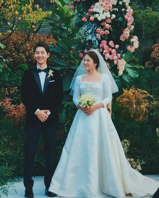 Song Hye Kyo, Song Joong Ki trong đám cưới năm 2017.