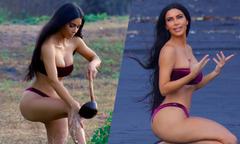 Kim Kardashian thả dáng trên bãi biển Bali
