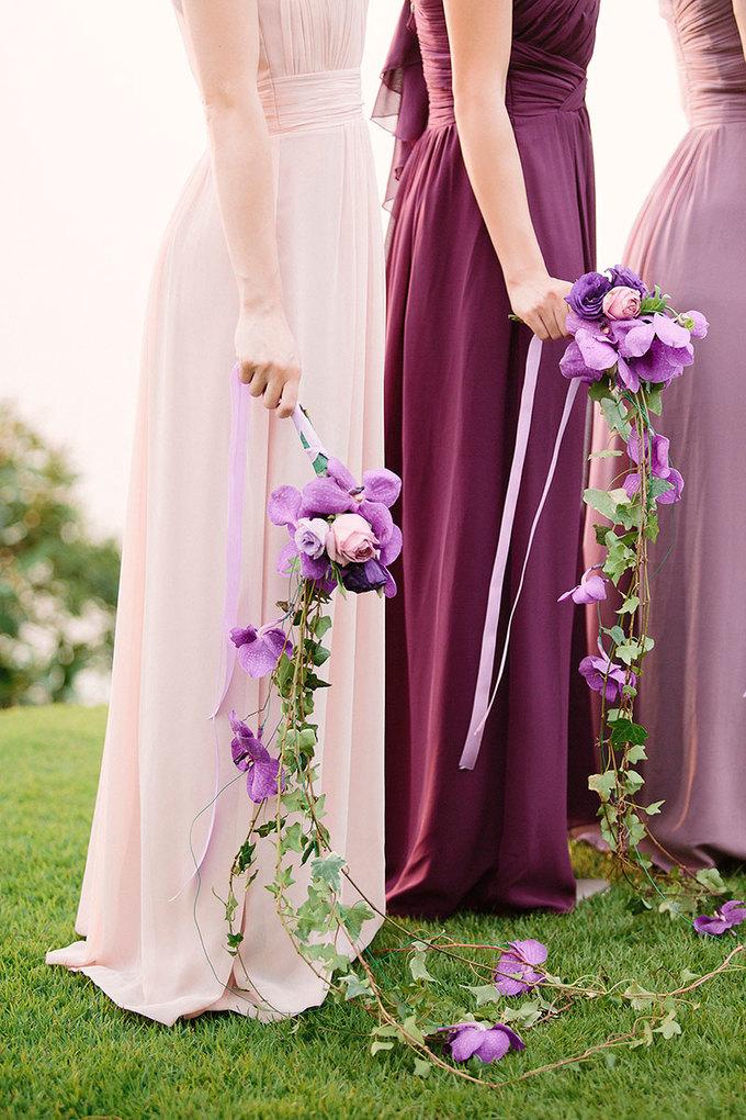 Đám cưới sắc tím mang phong cách châu Âu cổ điển
