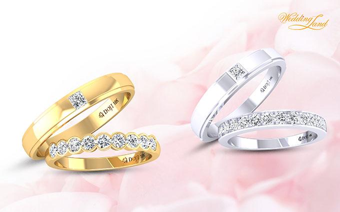 Nổi bật là bộ sưu tập Happy Journey với sự kết hợp linh hoạt trong thiết kế. Các bạn gái sẽ trở thành cô dâu thời trang khi kết hợp nhẫn cưới cùng nhẫn đính hôn.