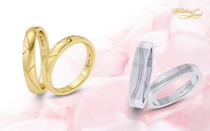 Nhẫn cưới Eros là tiếng nói đồng điệu trong tâm hồn và sự bất diệt của tình yêu với kiểu dáng thiết kế tròn trơn, đơn giản nhưng tinh tế.