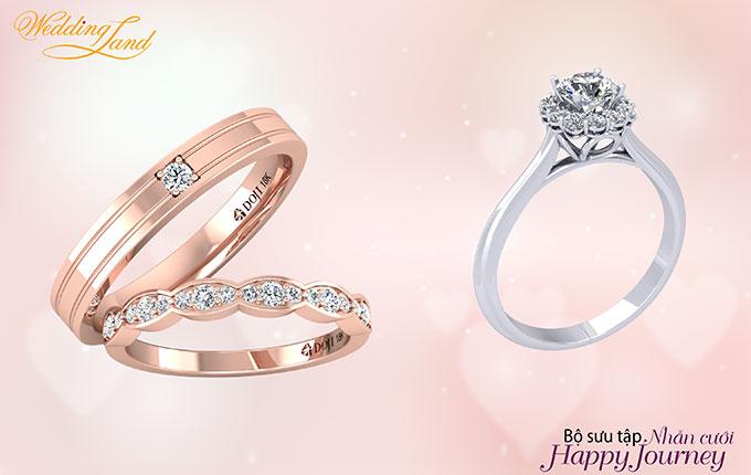 Bạn cũng có thể trở thành cô dâu thời trang nhất khi đeonhẫn cưới cùng nhẫn đính hôn.