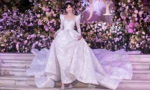 Váy cưới của Đường Yên được làm thủ công trong hơn 5.000 giờ