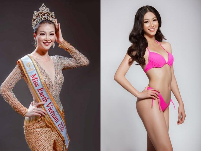 Nguyễn Phương Khánh từng đoạt đoạt ngôi vị Á hậu 2 cuộc thi Hoa hậu Biển Việt Nam Toàn cầu 2018, sau đó chiến thắng dự án Ngôi sao danh vọng và trở thành đại diện Việt Nam thi Miss Earth. Người đẹp năm nay 23 tuổi, cao 1,72m, số đo 90-58-94 và theo học chuyên ngành marketing của trường Curtin University Singapore.