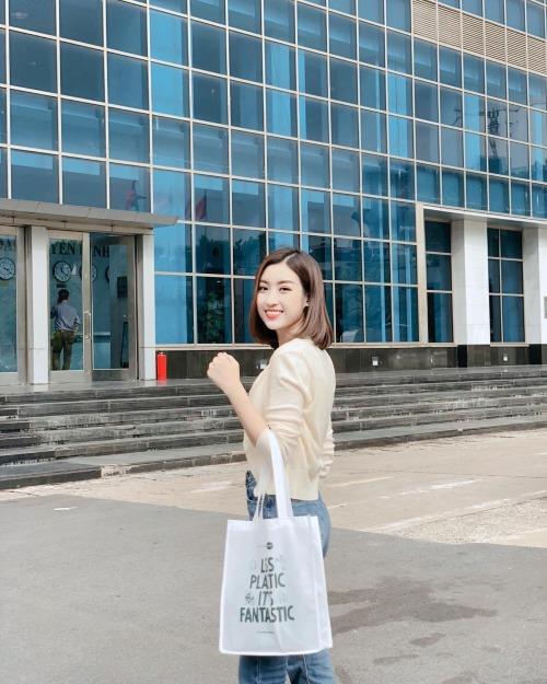 Đỗ Mỹ Linh kêu gọi cộng đồng tham gia chiến dịch bảo vệ môi trường với thông điệp Less Plastic Its Fantastic. Sử dụng túi Eco (loại túi làm bằng nguyên liệu có thể phân huỷ dễ dàng trong môi trường đất hoặc nước),hạn chế sử dụng túi nilong.
