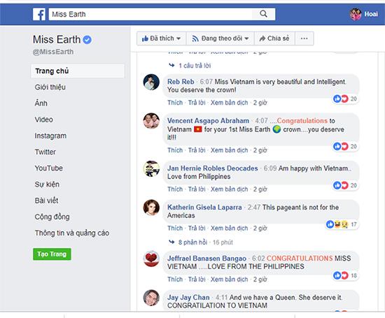 Khánh Phương nhận được vô số lời khen trên fanpage chính thức của cuộc thi.