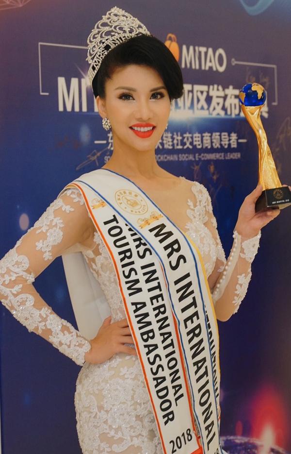 Ngoài ngôi vị Hoa hậu Quý bà Quốc tế, đại diện Việt Nam còn giành thêm hai giải phụ Mrs Tourism Ambassador (Hoa hậu Quý bà Đại sứ Du lịch) và giải Beautiful Body (Thí sinh sở hữu hình thể đẹp nhất).