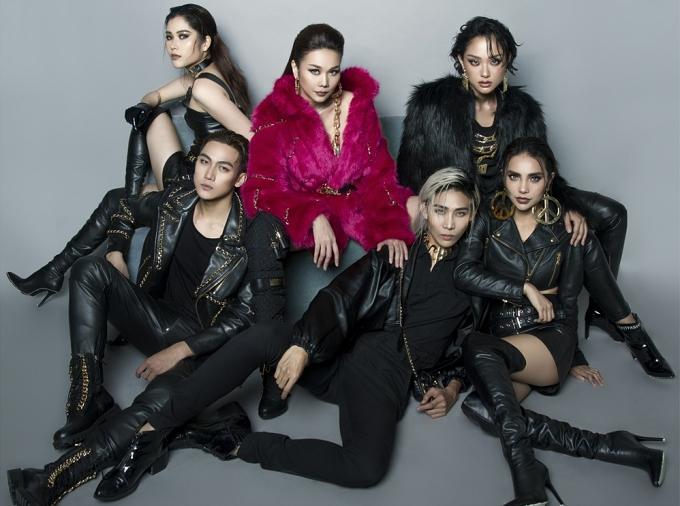 Thanh Hằng và các thành viên đội của cô tại The Face 2018 vừa tung bộ ảnh mới. Tất cả cùng diện trang phục, trang điểm theo phong cách cá tính, sắc lạnh.