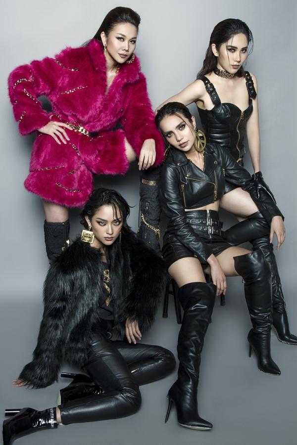 Các thành viên nữ của đội Thanh Hằng đều được đánh giá tiềm năng: Nam Anh (đứng), Linh Chi (ngồi ghế), Hồ Thu Anh (ngồi đất).