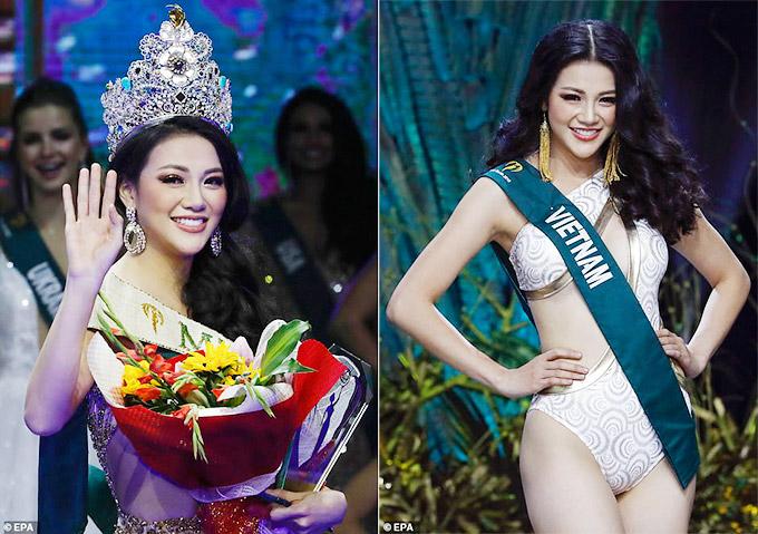 Phương Khánh được khán giả trong nước và quốc tế khen ngợi về nhan sắc khi đăng quang Miss Earth 2018 tối 3/11.