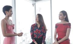 Hoàng Yến chỉnh khuyết điểm catwalk cho H'Hen Niê