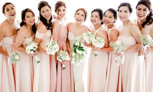 10 kiểu tạo dáng cho tân nương khi chụp cùng phù dâu