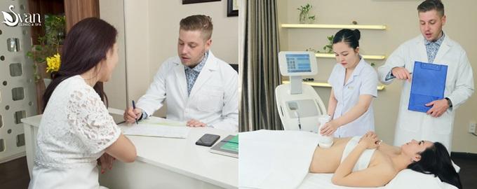 Svan Clinic & Spa sở hữu đội ngũ bác sĩ nhiều năm kinh nghiệm đến từ Mỹ, Nhật Bản, có thể giúp bạn giảm béo nhanh chóng. Xem chi tiếttại đây.