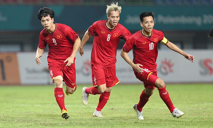 Văn Quyết là một trong ba cầu thủ được cây viết Gabriel Tan của Fox Sports Asiad đánh cao nhất ở tuyển Việt Nam. Ảnh: Đức Đồng.