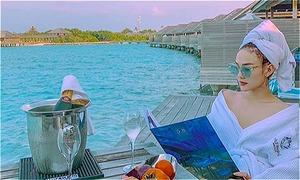 Khu resort ngắm cá heo ở Maldives khiến Minh Hằng phấn khích