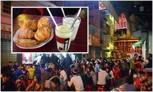 Tiệm sữa đậu nành Đà Lạt bán hàng trăm ly mỗi đêm