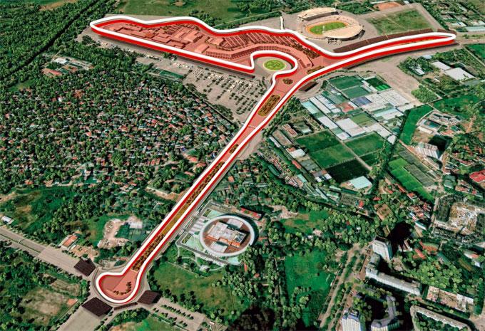 Thiết kế đường đua F1 tại Hà Nội.