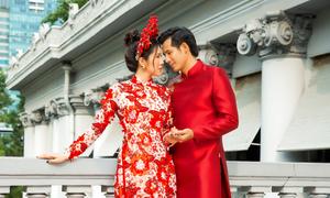 Diễn viên 'Gạo nếp gạo tẻ' gợi ý áo dài cưới truyền thống