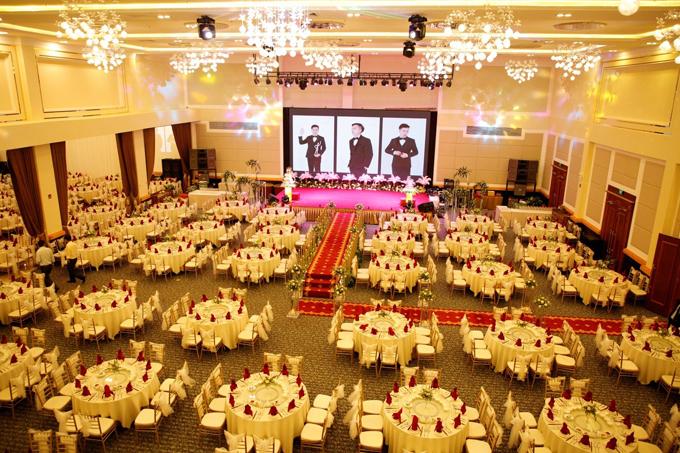 Sảnh cưới hiện đại tại khách sạn Ladalat.