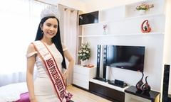 Hoa hậu Huỳnh Vy sống một mình trong căn hộ cao cấp