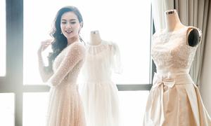 Mai Ngọc kể về chiếc váy cưới được hoàn thiện trước hôn lễ 1 giờ